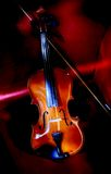 Light brush violin. A Violin against black backdrop Stock Images