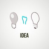 Light bub the idea concept. Vector illustration Royalty Free Stock Photography
