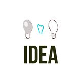 Light bub the idea concept. Vector illustration Royalty Free Stock Image