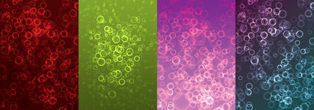 Light Bubbles Collection Stock Photography