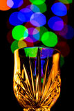 Light bubbles coming out of a wine glass Royalty Free Stock Image