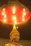 Light on the Buddha. Mounted on the image taken by the father sothon Province in Thailand royalty free stock photography