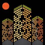 Light on building Stock Image