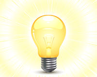 Light bulb. Vector: a light bulb, warm lighting royalty free illustration