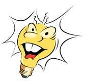 Light Bulb. Happy light bulb cartoon illustration Stock Photography