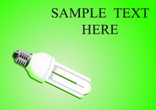 Light bulb. Illustration of power saving light bulb Stock Photography