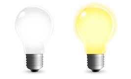 Light Bulb. A glowing vector light bulb Stock Image