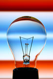 Light bulb. On colourful background Royalty Free Stock Photography
