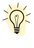 Light bulb. Vector light bulb, symbol of innovation and good ideas