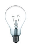 Light bulb. A incandescent light bulb on white background Stock Photos