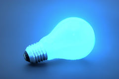 Light bulb. Isolated light bulb with clipping path Stock Images