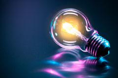 Light bulb. A light bulb with a glow Royalty Free Stock Photos