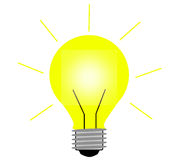 Light bulb. This is a light bulb and you can put any idea on it Stock Image