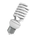 Light Bulb. Energy saving light bulb against a white background. 3D render Stock Images