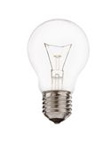 Light bulb. Isolated over white background Stock Images
