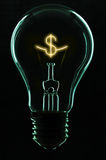 Light bulb. Think out of the box Royalty Free Stock Photos