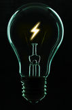 Light bulb. Think out of the box Royalty Free Stock Images