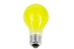 Light bulb. Yellow light bulb isolated on a white background royalty free stock photos