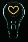 Light Bulb. Give an idea to your love life Stock Image