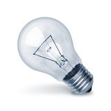 Light bulb. In a white background Stock Images
