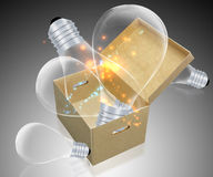 Light Bulb. In the box Royalty Free Stock Photo
