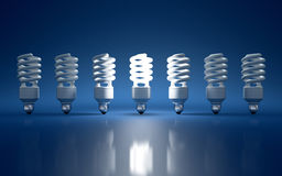 Light bulb. High Resolution 3d render of light bulb clipart on dark blue background Royalty Free Stock Photos