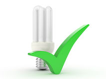 Light bulb and Royalty Free Stock Photo