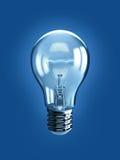 Light bulb. Isolated on blue background Stock Image