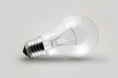 Light Bulb. Bright clear light bulb incandescent electric glass Stock Image