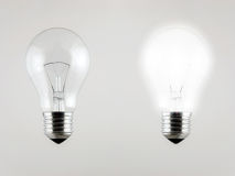 Light Bulb. Bright clear light bulb incandescent electric glass Royalty Free Stock Images
