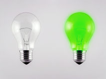 Light Bulb. Bright clear light bulb incandescent electric glass Royalty Free Stock Photography