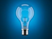 Light bulb 3d on blue. Innovation, imagination. Light bulb 3d on blue background. Innovation Stock Photo