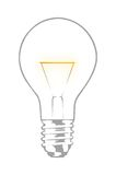 Light bulb. Against white background Royalty Free Stock Photos