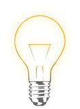 Light bulb. Against white background Royalty Free Stock Photography