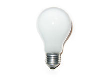 Light bulb. Isolated white light bulb (vertical royalty free stock photos