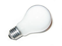 Light bulb. Isolated white light bulb (angle view stock photos