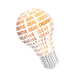 Light bulb. Illustration. lightbulb typographic royalty free illustration