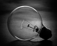 Light Bulb. Backlighted light bulb Royalty Free Stock Images