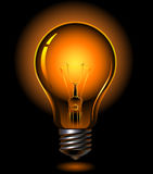 Light bulb. Vector light bulb is lighting Royalty Free Stock Images