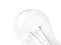 Light bulb. Contour of light-bulb in the white background Stock Photos
