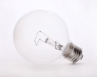 Light bulb. In high key Royalty Free Stock Photo
