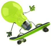 Light bulb. Funny lightbulb, great for creativity Stock Photography