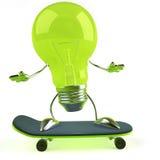 Light bulb. Funny light bulb, great for creativity Royalty Free Stock Photo