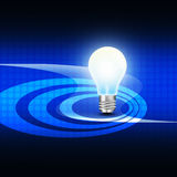 Light bulb  on  abstract  background Royalty Free Stock Image