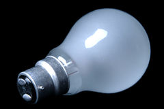 Light Bulb Against Black Background Stock Image