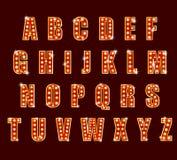 Light Bulb alphabet glamorous showtime theater alphabet Royalty Free Stock Photo