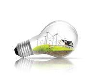 Light bulb Alternative energy concept Stock Photo