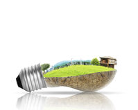 Light bulb Alternative energy concept Stock Photo