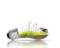 Light bulb Alternative energy concept Stock Image