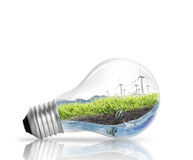 Light bulb Alternative energy concept Royalty Free Stock Image